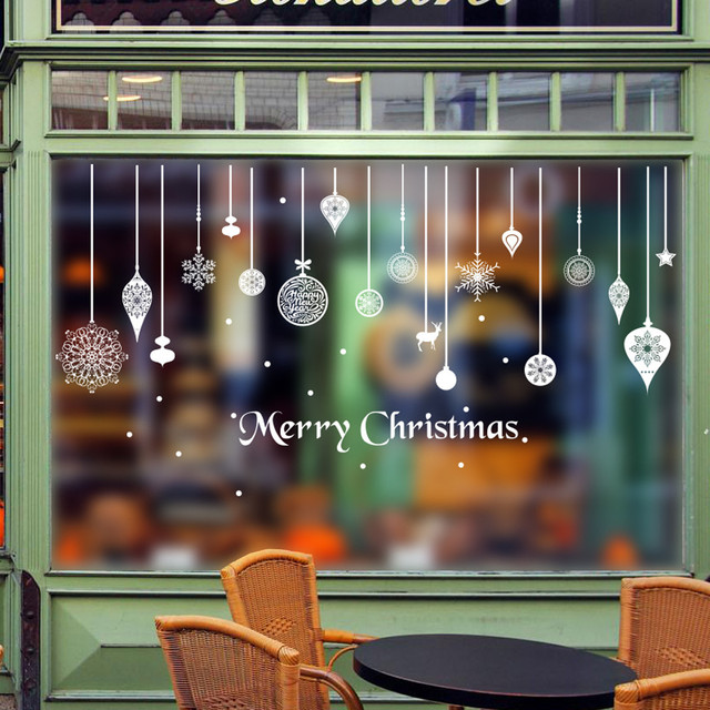 Christmas Wall Stickers Window Glass Door Decoration Wall Sticker Happy  Nice Design Fashion Style Baby Room
