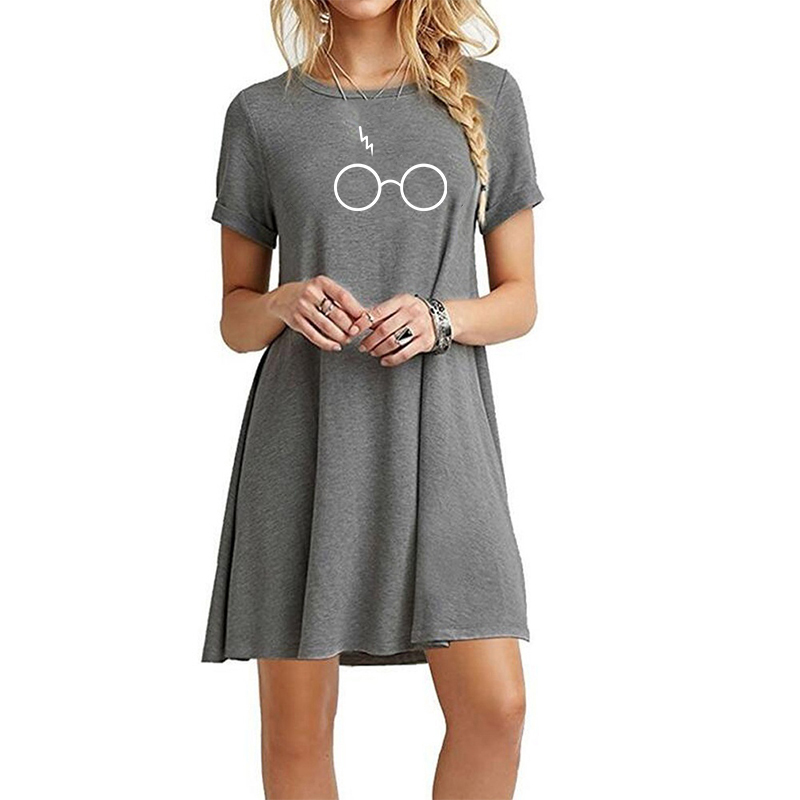 Round Neck Short-sleeved DressStriped Dresses Casual Elegant Sheath Dress