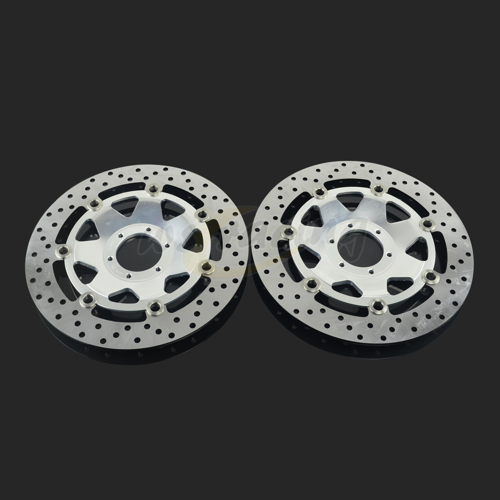 296MM Motorcycle Front Wavy Floating Brake Disc Rotor For HONDA XL1000 99-12 GL F6C 97-03 GL1500 97-03 GL GOLD 01-14 1800 stainless steel front brake disc rotor for honda xlv1000 varadero 99 07 xlv 1000 10 11 gl1500 f6c valkyrie 97 03 cbr600 f4 99 00