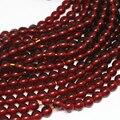 De color rojo oscuro de color ámbar de resina Nueva moda encanto 5mm 6mm 8mm 10mm diy flojo redondo spacer accesorios de Joyería de perlas de 15 pulgadas B40