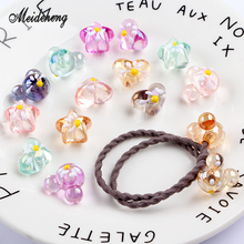 Acrylic UV beads Transparent Oil Heart StarMouse Bracelets women DIY Hair Ornament beads for jewelry making Handmade accessories цена