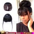 Клип в бахромой черный реальные Человеческие наращивание Волос аккуратные челки спереди волосы женщины реми волос поддельные челки челки волосы кусок воздуха челка