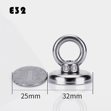 2Pcs D32 Super Powerful Neodymium Magnets Free Shipping Search Hook Strong Magnet Fishing Salvage Permanent NdfeB Holder