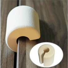6pcs/lot Foam Soft Door Stops Baby Finger Protector Secure Door Clip Anti Pinch Child Kids Safety Door Stopper Free Shipping