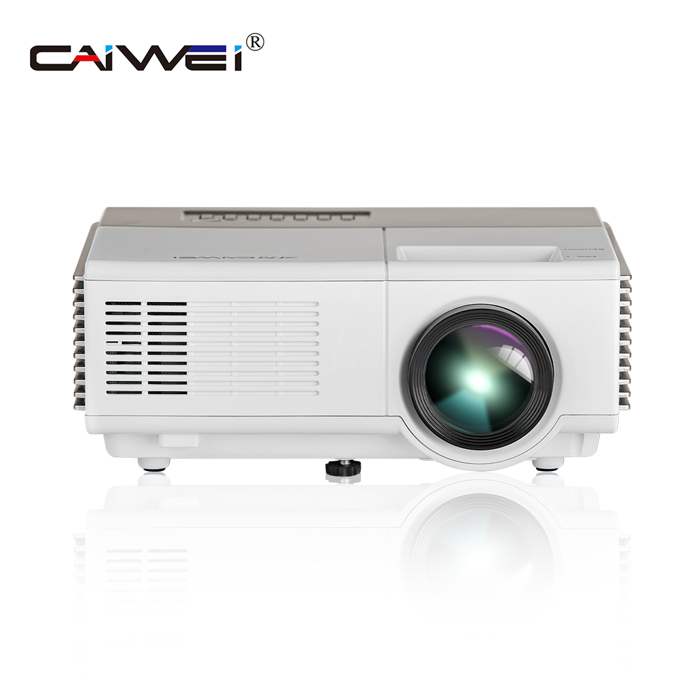 CAIWEI projecteur à LED portable Home cinéma (en option Android Bluetooth projecteur soutien 1080 P) HDMI VGA USB WiFi projecteur