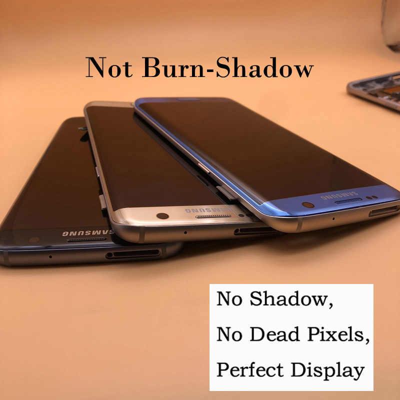 2560x1440 الأصلي 5.5 ''سوبر Amoled شاشة الكريستال السائل مع الإطار لسامسونج غالاكسي S7 حافة G935 G935F G935FD LCD شاشة تعمل باللمس