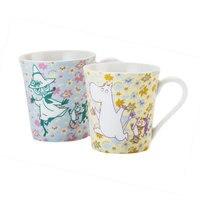 2pcs Gift Box Moomin Family Cartoon Mug Japanese Style Lovers Milk Water Tea Coffee To Cup Valentine's Day Present Ceramics Mugs