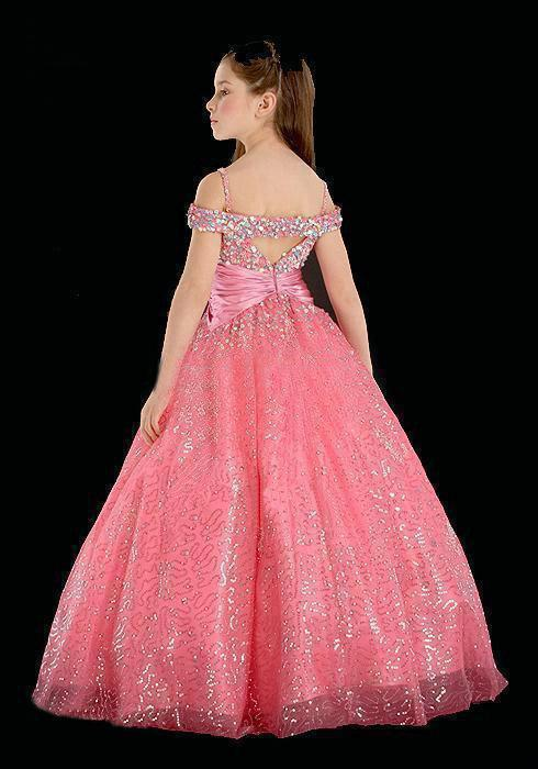 barbie ball gowns Out Shoulder Sleeveless Pink Princess Floor ...