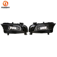 POSSBAY Front Lower Bumper Fog Lamps Assembly for Audi A4 Sedan 2013 2014 2015 2016 Halogen Car External Foglamps