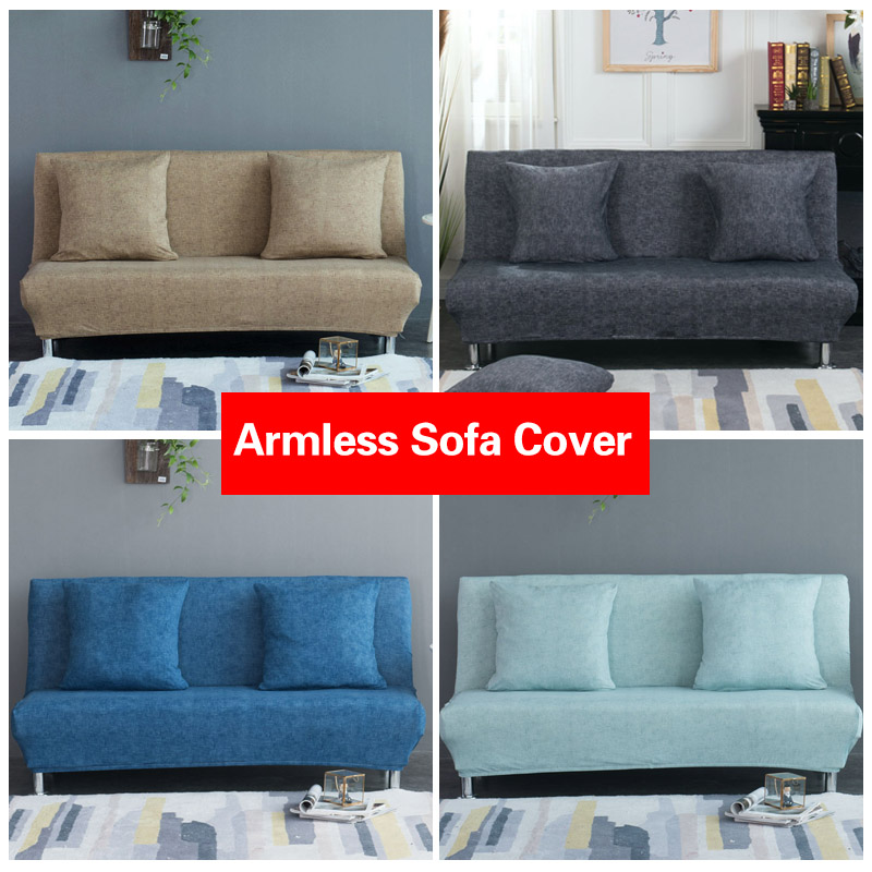 elastic sofa bed cover spandex protector sofa blue slipcover sofa armless sofa covers for living room sofabed couch cover 1pc