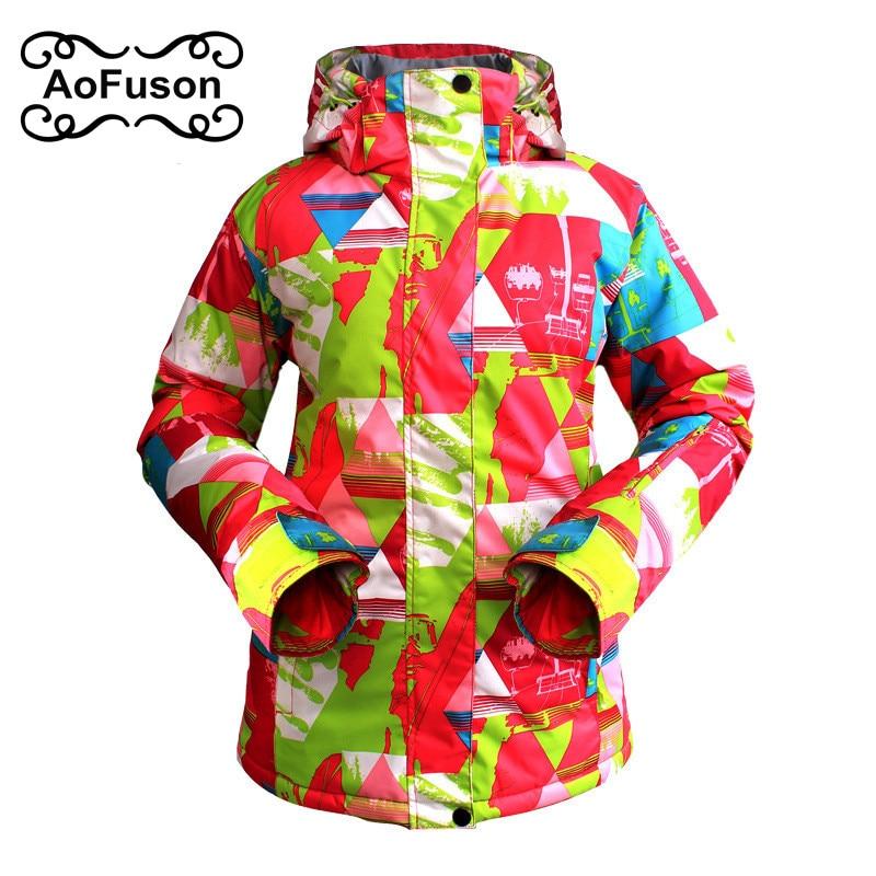 Veste de Ski femmes chaud respirant en plein air imperméable à l'eau marque d'hiver veste de Ski pour snowboard randonnée vestes dames manteaux de neige