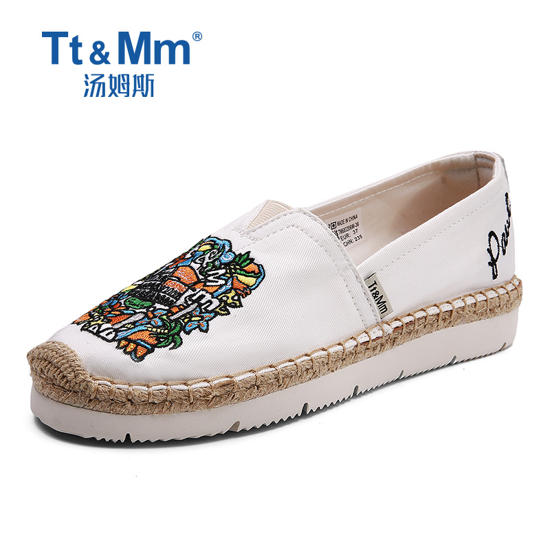 Tt&Mm Women Shoes Slip-on Espadrilles Female 2019 Summer Canvas Hemp Rope Shoes Woman Breathable Girl's Footwear Zapatos Hombre(China)