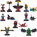 Super Heroes 8 Unids/lote mini Iron Man Batman Harley Quinn Chaqueta Amarilla Deathstroke Arsenal figuras Juguete lepin Compatible SY295