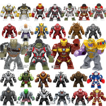 Large Big Avengers Endgame Building Blocks Super Heroes Infinity War Thanos Hulk Iron Man Power Stone