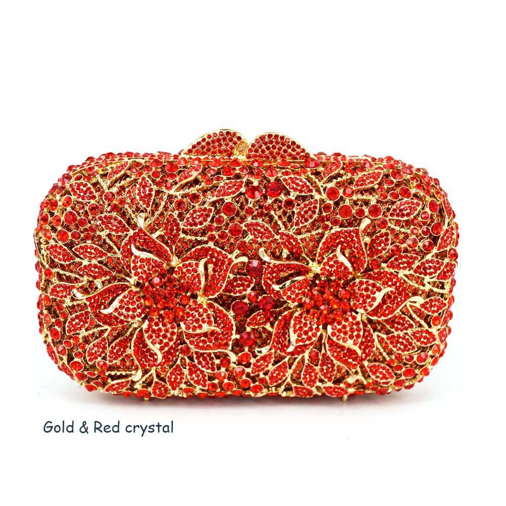 3c0e14c8e6 AB Gold Luxury Crystal Diamond Evening Clutch Bag bridal Wedding ...