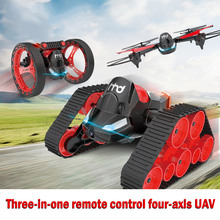 3 In 1 Bounce Car RC Tank Drone with Cam