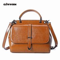 Real Cow Leather Ladies Women Genuine Leather Handbag Shoulder Bag High Quality Designer Luxury Brand Boston