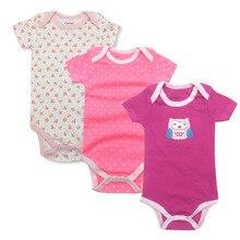Baby Bodysuit Newborn Print Body Suit Fashion Summer Children Girl Boy Long Sleeve Toddler Jumpers Infant 3pi