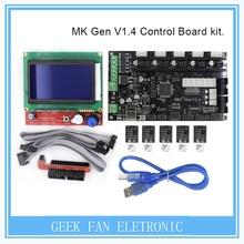 BIQU MKS Gen V1.4 3D printer kit with MKS Gen V1.4 RepRap board + 5PCS TMC2100 Driver/DRV8825/A4988+ 12864 Graphic LCD
