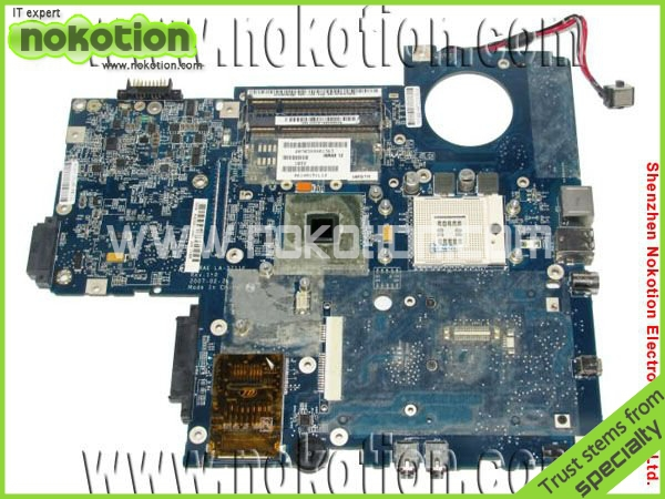 NOKOTION for Toshiba P200 P205 Laptop motherboard LA-3711P K000051440 DDR2 Mainboard free shipping warranty 60 days v000138330 laptop motherboard for toshiba satellite l300 ddr2 full tested mainboard free shipping