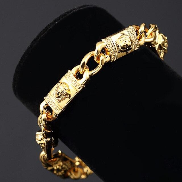 Europe United States Fashion Medusa Bracelet Fixing Color Gold