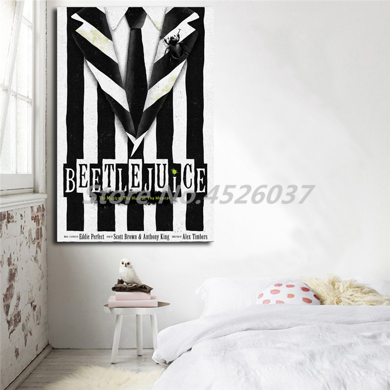 Beetlejuice Musical Broadway Wall Art Canvas Poster And Print Canvas Painting Decorative Picture Office Living Room Home Decor Painting Calligraphy Aliexpress