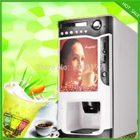 free shipping 3 in 1 automatic cup falling coin milk tea fruit juice coffee maker coffee vending machine by Hosalei