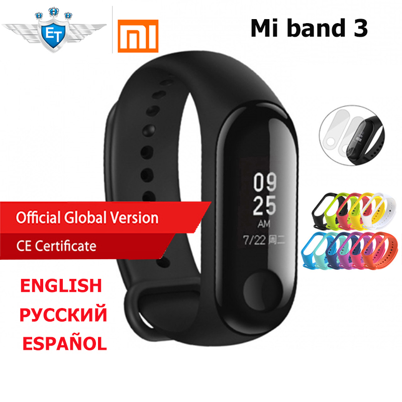Global Version Xiaomi Mi Band 3 miband 3 Wristband 0.78″ OLED Display Touchpad Heart Rate Bluetooth 4.2 Fitness Tracker xiomi