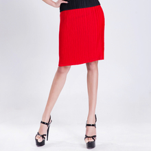 Miyake  pleated red pleated short skirt sexy pleated slim hip skirt OL formal skirts fold skirt free shipping