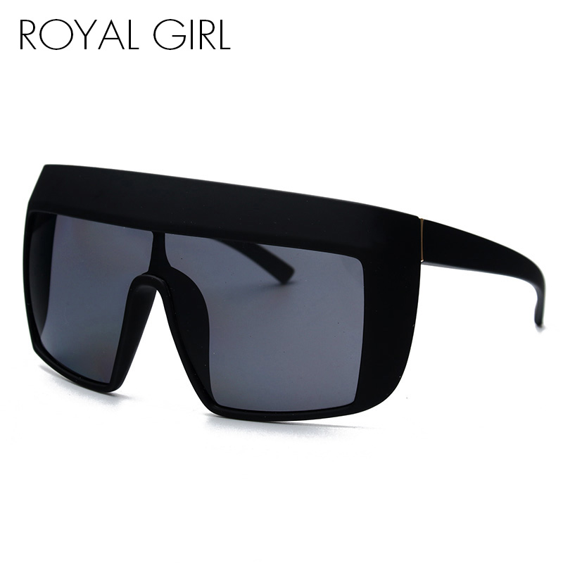 c96fcab503bcd ROYAL FILLE Oversize Acétate lunettes de Soleil Femmes Flat Top Carré  Lunettes de Soleil Femme Retro Brand Designer Lunettes UV400 ss109 dans  Lunettes de ...
