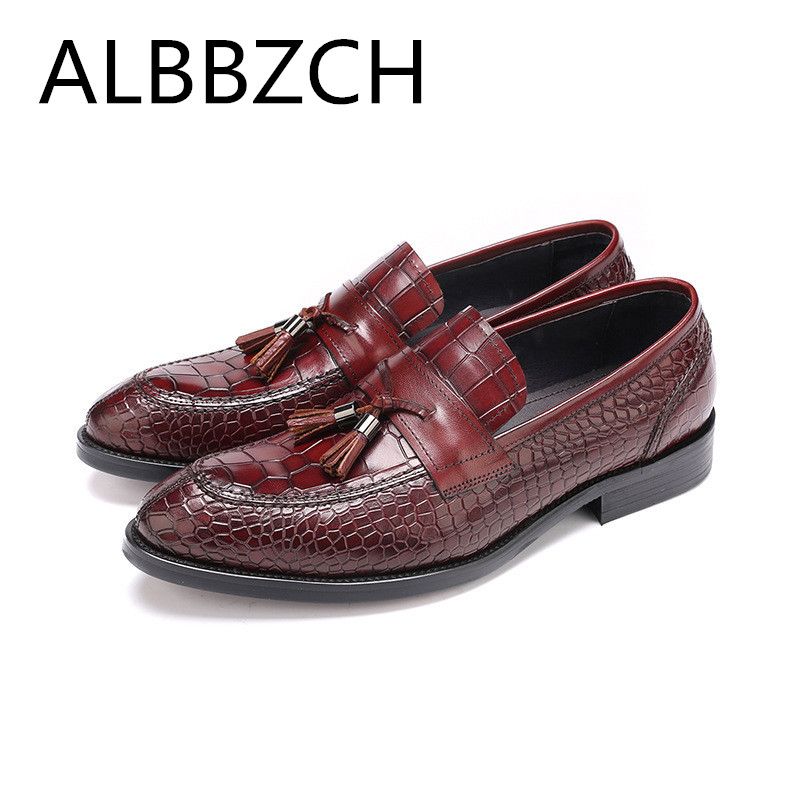 New fashion tassel men shoes oxford business leisure party dress shoes mens slip-on embossed leather wedding sheos size 38-44New fashion tassel men shoes oxford business leisure party dress shoes mens slip-on embossed leather wedding sheos size 38-44
