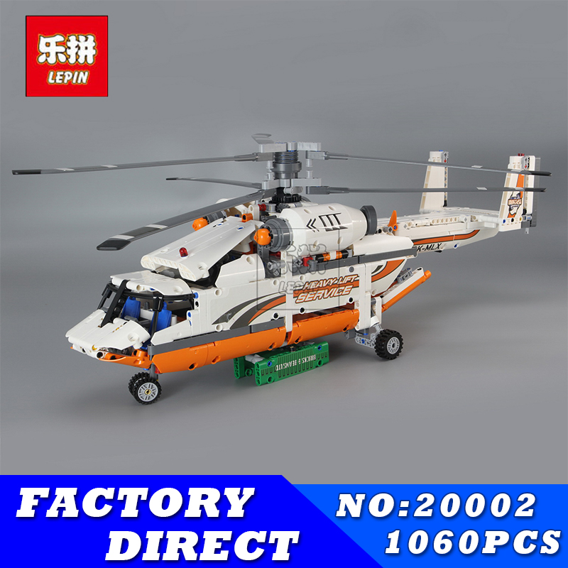 Lepin 20002 Heavy Lift Helicopter Technic Plane Building Bricks Blocks Set New Year Gift Toys for Children Boy Ecudational 42052 education building blocks bricks toy gun boy toys for children model new year christmas gift free shipping compatible lepin
