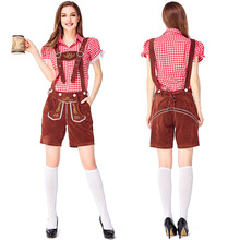 German traditional Pink Oktoberfest couple costumes European and American bar overalls Alpine adult women