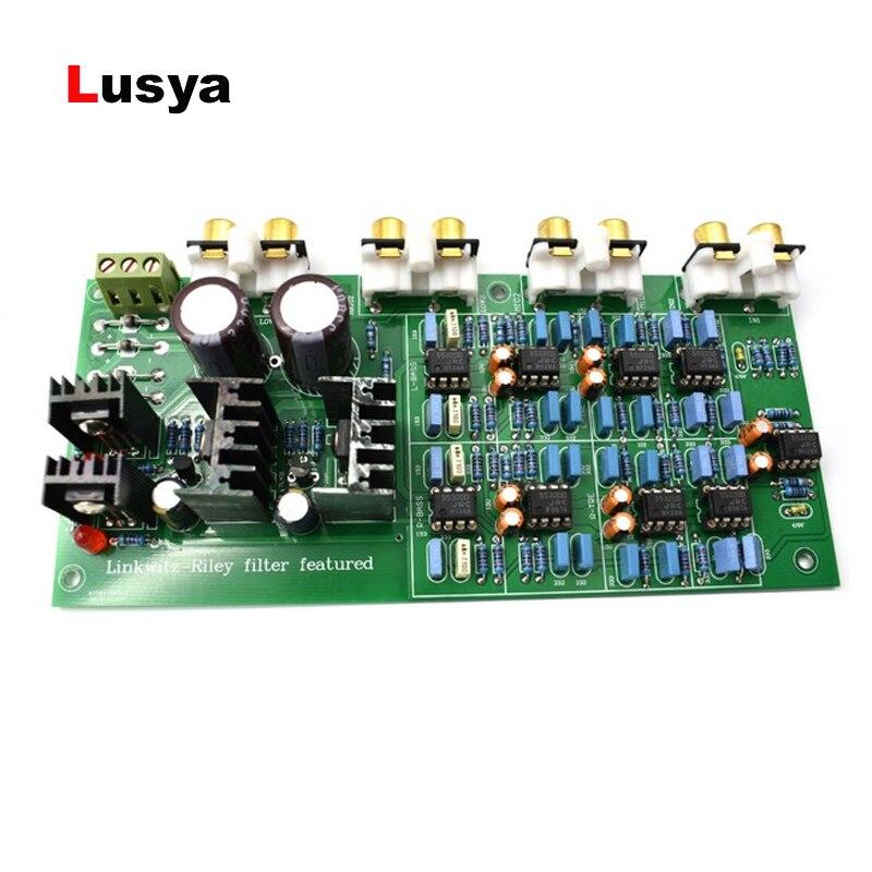 Linkwitz-Riley Filter 3 Way Crossover PCBA ClassA Power  6-Channel Crossover-point 310HZ/3.1KHz G1-004