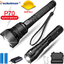 led flashlight 6000 lumens xhp70.2 most powerful flashlight 26650 usb torch xhp70 lantern 18650 Best Camping lamp hand light(China)