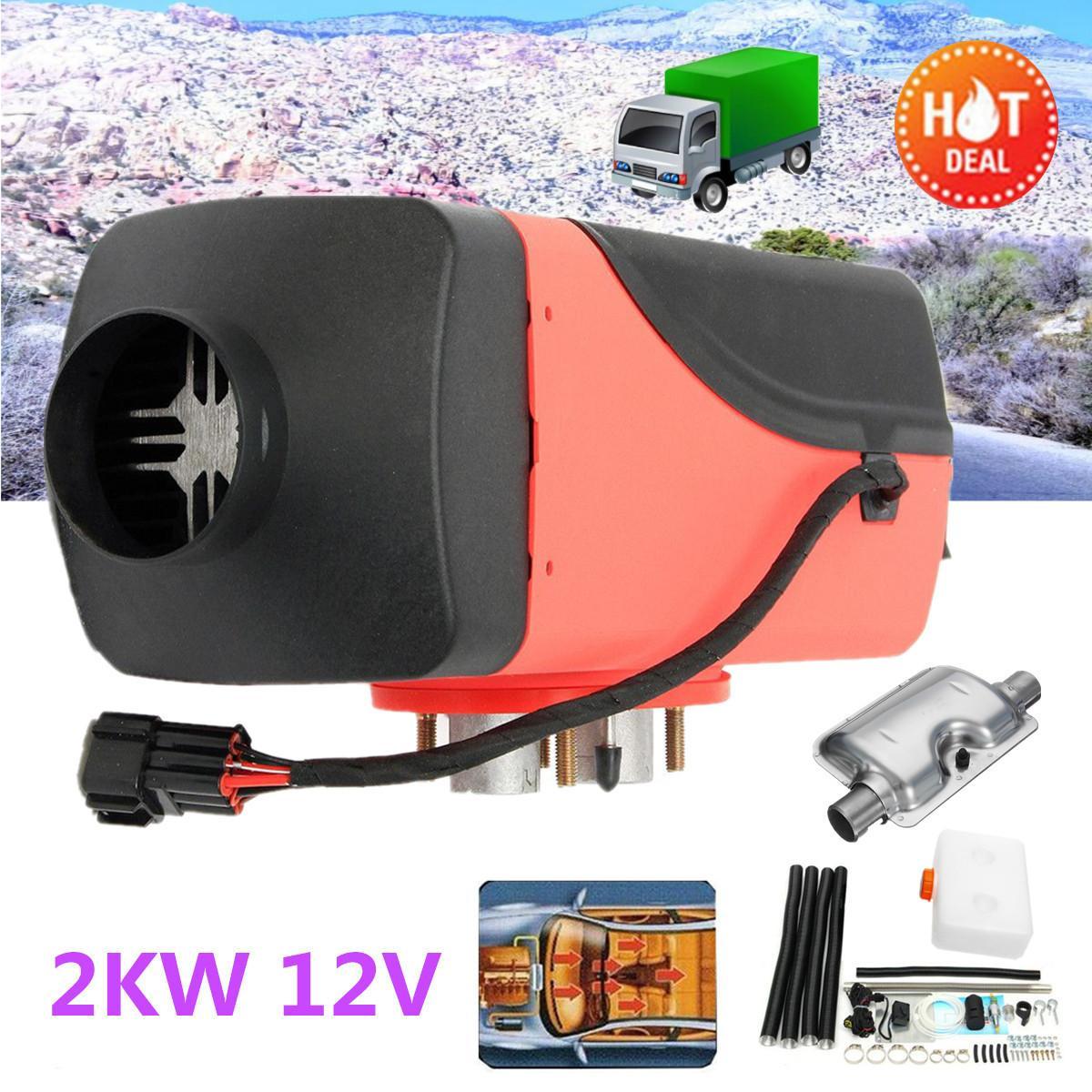 все цены на 2000W Air diesel- Heater 12V for trucks, motor-homes, boats, bus Knob Switch Single hole silencer For free онлайн