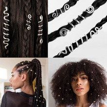 Hiphop Braid Bead Hair Jewelry Vintage viking Hair Coils dreadlocks jewelry Hair Clips&Pin party Gift