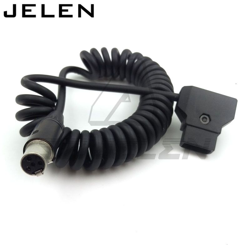 D-Tap plug to mini XLR 4-pin for TVlogic Monitor power cable, cameras monitor 12V monitor power cable, tvlogic monitor power line cameras monitor 12v monitor power cable d tap plug to mini xlr 4 pin