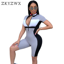 ZKYZWX Sexy Playsuit 2018 New Fitness Shorts Bodysuit Short Sleeve Casual  Body Summer Overalls One Piece 406fc9649