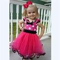 Европейский Американский лето стиль детей раздели жилет лук платье дети ребенок девушки платья одежда для девочек