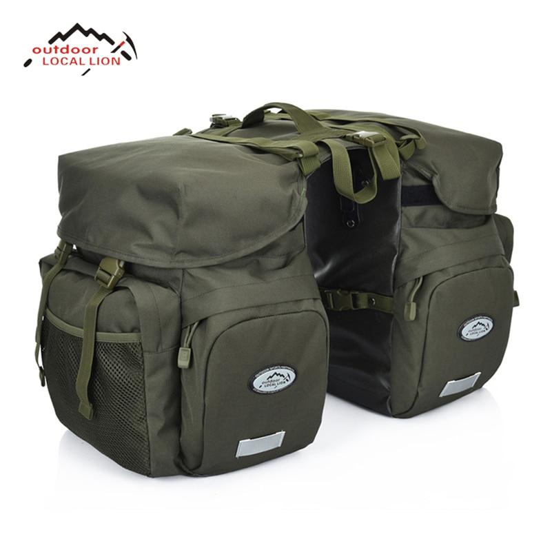 LOCALLION Ретро холщовая велосипедная сумка 50л задняя стойка багажник велосипед багаж на заднее сиденье Паньер отражатели Велоспорт хранение д...