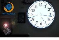 LED projection clock Home Decoration Living Room Roman Quartz Needle personality electronic clock