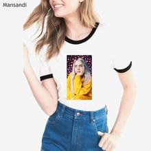 2019 Vogue Billie Eilish T Shirt women summer fashion tshirt female harajuku korean clothes t-shirt streetwear tops tee