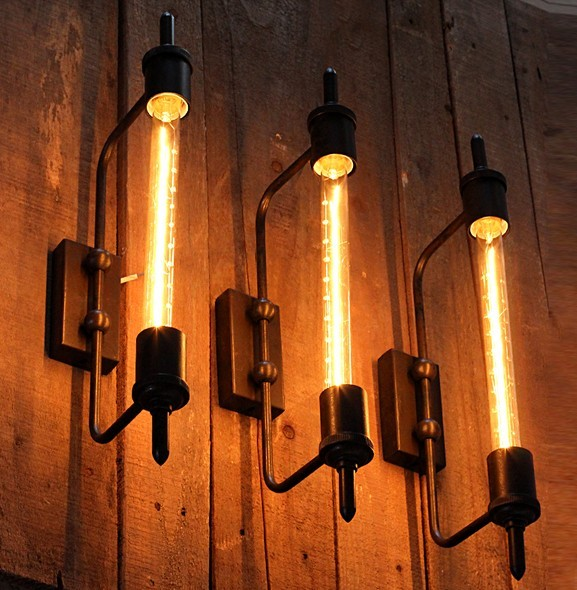 Loft Stil Edison Wandleuchte Industrie Jahrgang Wandleuchte ...