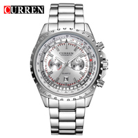 50pcs Lot CURREN Watches Men Quartz Watch Relogio Masculino Luxury Military Wristwatches Fashion Casual Water Army