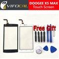 Doogee x5 max touch screen + ferramentas gift set 100% original painel de digitador de vidro substituição conjunto da tela para doogee x5 max pro telefone
