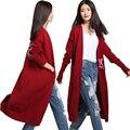Весна женщины свободного покроя кашемировый свитер тонкий стиль сова жаккардовые трикотаж женский мода вязаный кардиган сплошные цвета