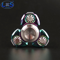 3 Color CKF Metal Two-Spinner Fidget Toy Stainless steel EDC Hand Spinner Rotation Time Long Anti Stress Toys Child Gift,Action