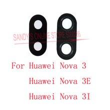 20 шт./партия задняя камера со стеклянным объективом для huawei Nova 3 Nova3/Nova 3I/Nova 3E и P20 Lite задняя крышка для объектива камеры