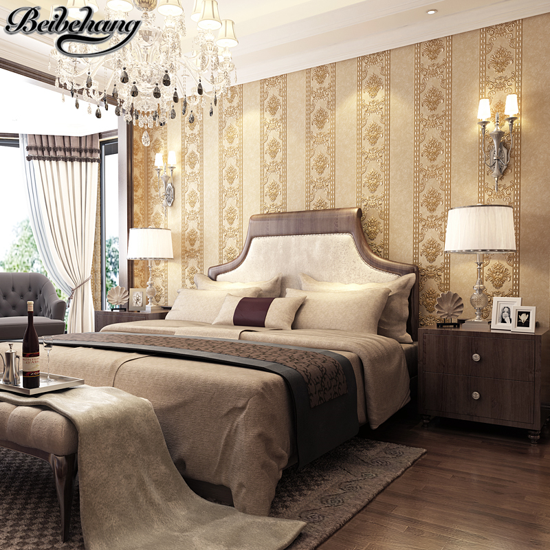 beibehang Luxurious European Carving Embossed Nonwoven Wallpaper Living Room Bedroom Background Wall Restaurant Wall paper beibehang wall paper pune continental nonwoven shop for retro wallpaper ranunculus sweet potato leaves the bedroom living room